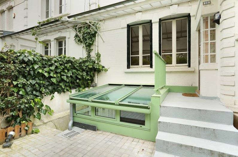 Jardin d'un pavillon à la Villa Meyer ©feau-immobilier.fr
