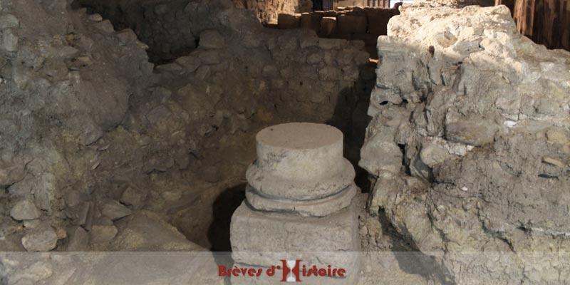 Vestige de colonne d'une maison gallo-romaine
