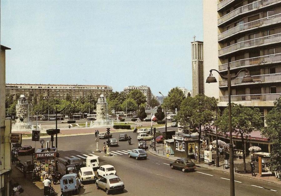 """Les Fontaines """"Les Sources de la Seine"""" dans les années 70"""
