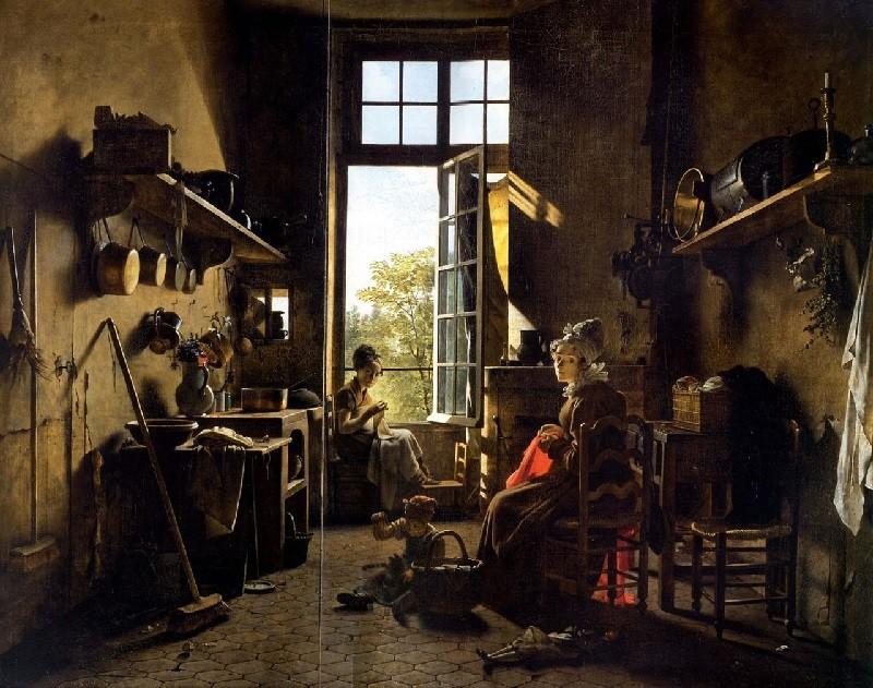 """L'interieur de la cuisine"" de Martin Drolling"