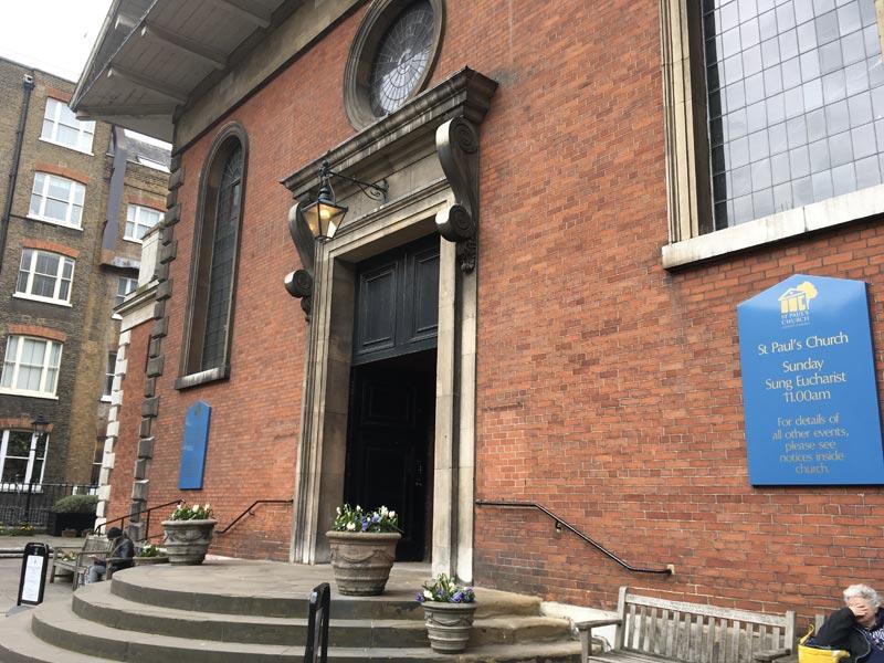 Entrée principale de l'Eglise Saint-Paul