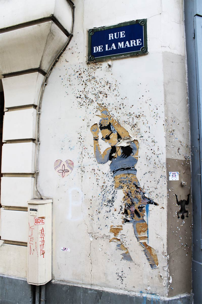 Graffiti sur la rue de la Mare