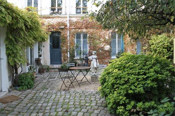 Courette à la Villa de l'Ermitage