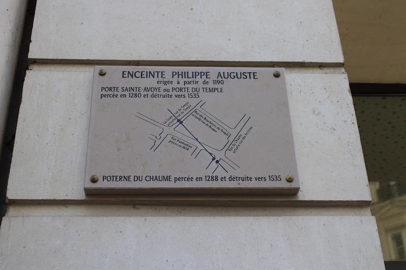 Plan de l'emplacement de l'ancienne Porte du Temple